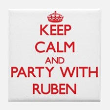 Keep Calm and Party with Ruben Tile Coaster