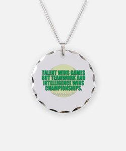Girls fast pitch Necklace Circle Charm