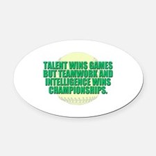 Girls fast pitch Oval Car Magnet