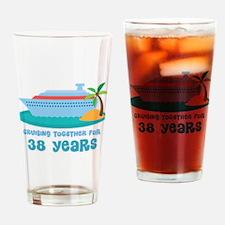 38th Anniversary Cruise Drinking Glass