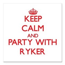 Keep Calm and Party with Ryker Square Car Magnet 3