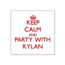 Keep Calm and Party with Rylan Sticker