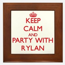 Keep Calm and Party with Rylan Framed Tile
