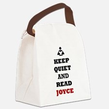 Keep Quiet and Read Joyce Canvas Lunch Bag