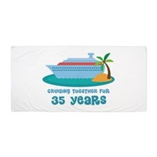 35th Anniversary Cruise Beach Towel