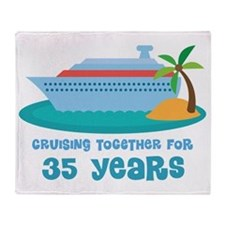 35th Anniversary Cruise Throw Blanket