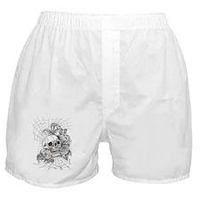Skull and Roses Boxer Shorts