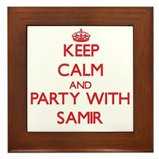 Keep Calm and Party with Samir Framed Tile
