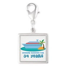 34th Anniversary Cruise Silver Square Charm