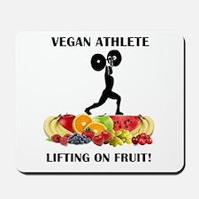 Vegan Athlete Lifting on Fruit Mousepad