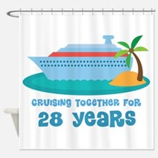 28th Anniversary Cruise Shower Curtain