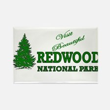Visit Beautiful Redwood Natio Rectangle Magnet