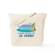 25th Anniversary Cruise Tote Bag