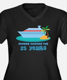 25th Anniversary Cruise Women's Plus Size V-Neck D