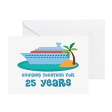 25th Anniversary Cruise Greeting Card