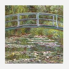 Monet Bridge over Water Lilies Tile Coaster