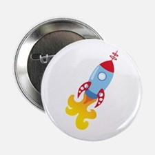 "Rocket Ship 2.25"" Button (10 pack)"