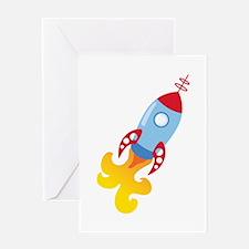 Rocket Ship Greeting Cards