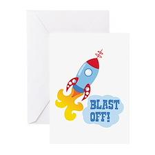 BLAST OFF! Greeting Cards