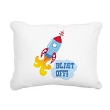 BLAST OFF! Rectangular Canvas Pillow