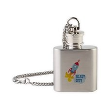 BLAST OFF! Flask Necklace
