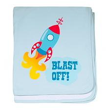 BLAST OFF! baby blanket