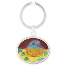 Dinner rolls from out there T-shirt Oval Keychain