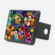 Colorful floral bouquets Hitch Cover