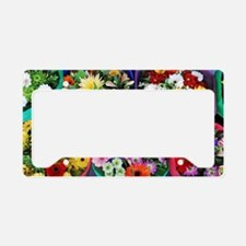 Colorful floral bouquets License Plate Holder