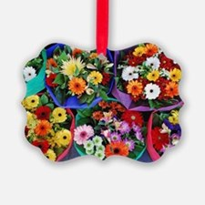 Colorful floral bouquets Ornament