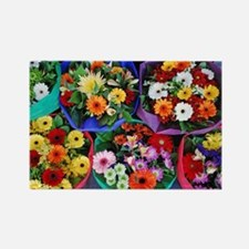 Colorful floral bouquets Rectangle Magnet
