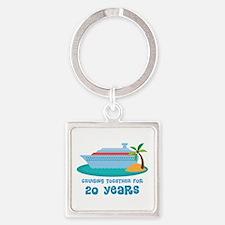 20th Anniversary Cruise Square Keychain