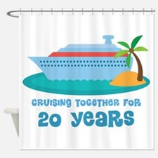 20th Anniversary Cruise Shower Curtain