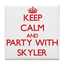 Keep Calm and Party with Skyler Tile Coaster