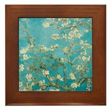 Flowers on tree branches by Vincent van Gogh Frame