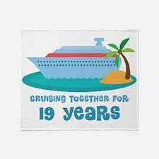 19th Anniversary Cruise Throw Blanket