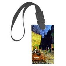 Cafe Terrace at Night by Van Gog Large Luggage Tag