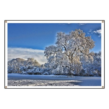 Winter Snow in Trull Meadows Banner by listing-store-65398709