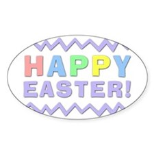 Happy Easter! Oval Decal