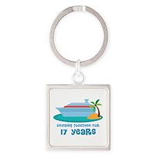17th Anniversary Cruise Square Keychain
