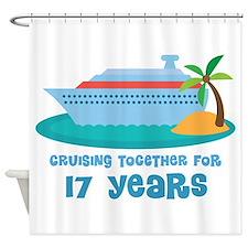 17th Anniversary Cruise Shower Curtain