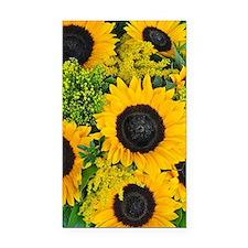 Sunflower floral bouquet Rectangle Car Magnet