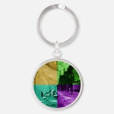 Cafe Terrace at Night by Van Gogh ( Round Keychain