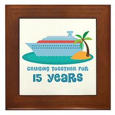 15th Anniversary Cruise Framed Tile