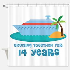 14th Anniversary Cruise Shower Curtain