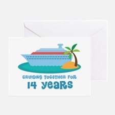 14th Anniversary Cruise Greeting Card