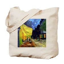 Cafe Terrace at Night by Van Gogh Tote Bag