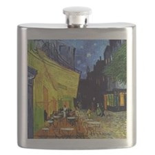 Cafe Terrace at Night by Van Gogh Flask