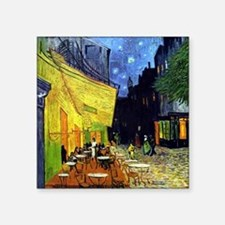 "Cafe Terrace at Night by Va Square Sticker 3"" x 3"""