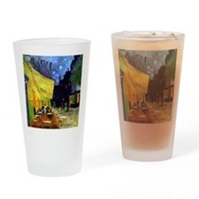 Cafe Terrace at Night by Van Gogh Drinking Glass